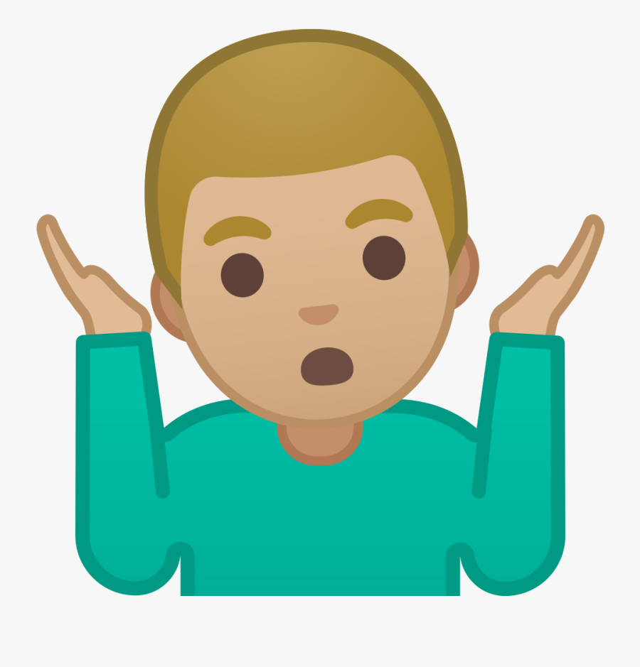 Shrug Emoji Png.