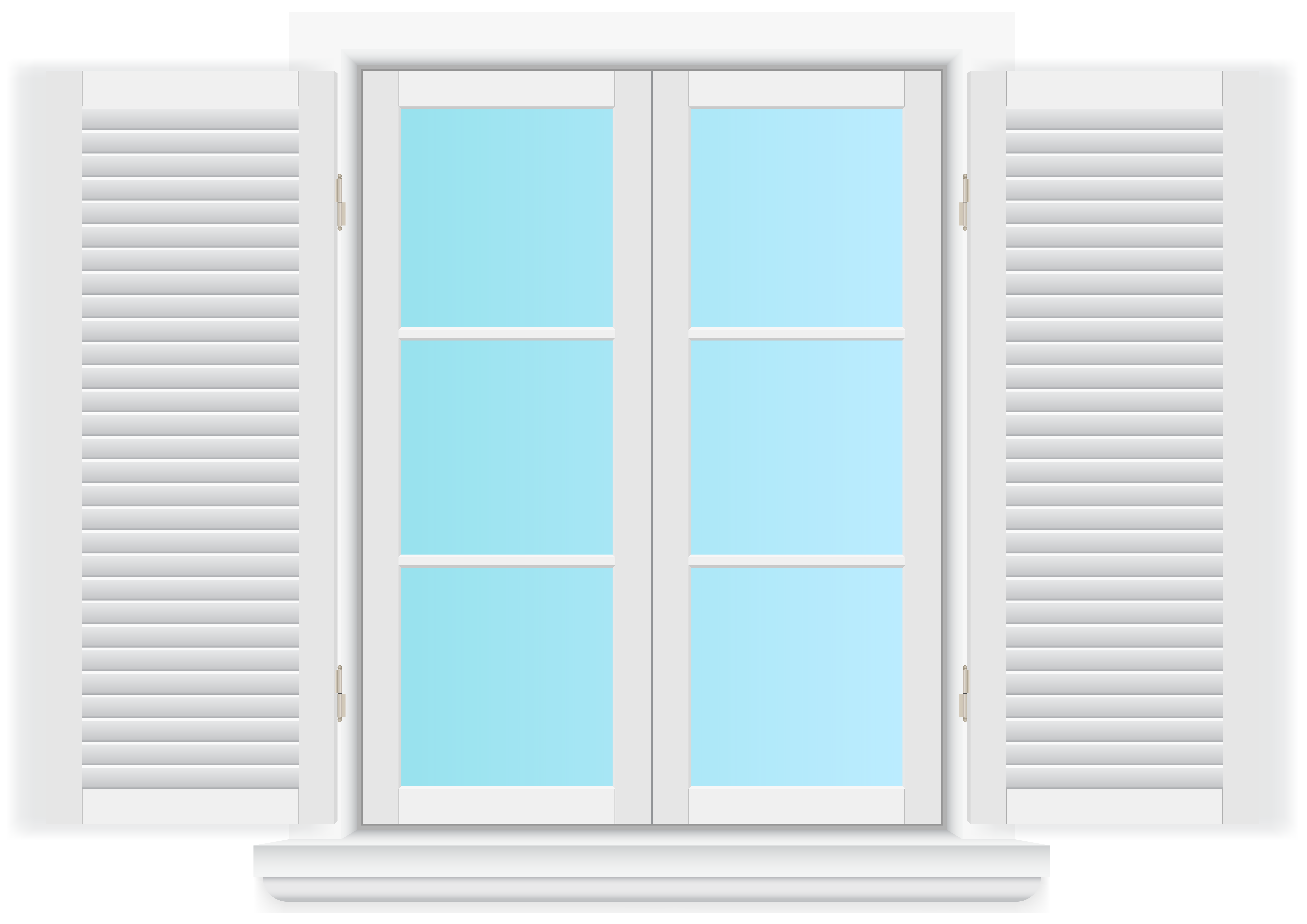 Window with Shutters PNG Clip Art.