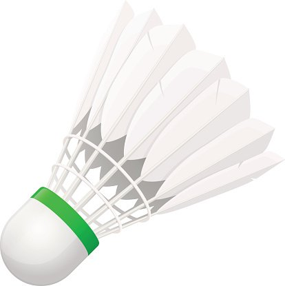 Shuttlecock for Badminton from Bird Feathers premium clipart.