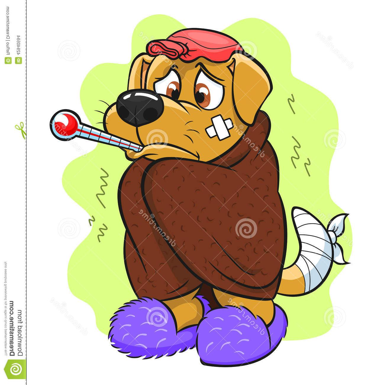 Top Sick Dog Cartoon Vector File Free » Free Vector Art.