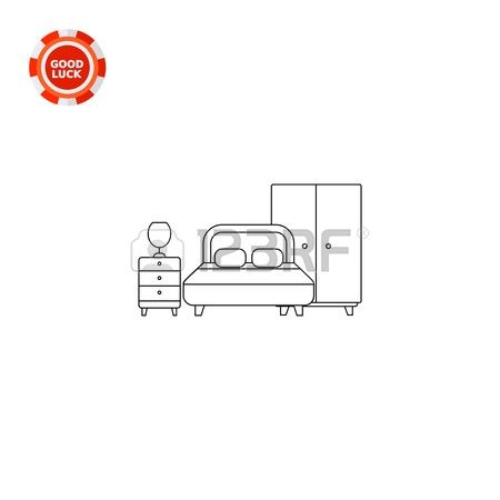 1,099 Bedside Table Stock Vector Illustration And Royalty Free.