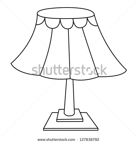 Table Lamp Clipart Black And White.