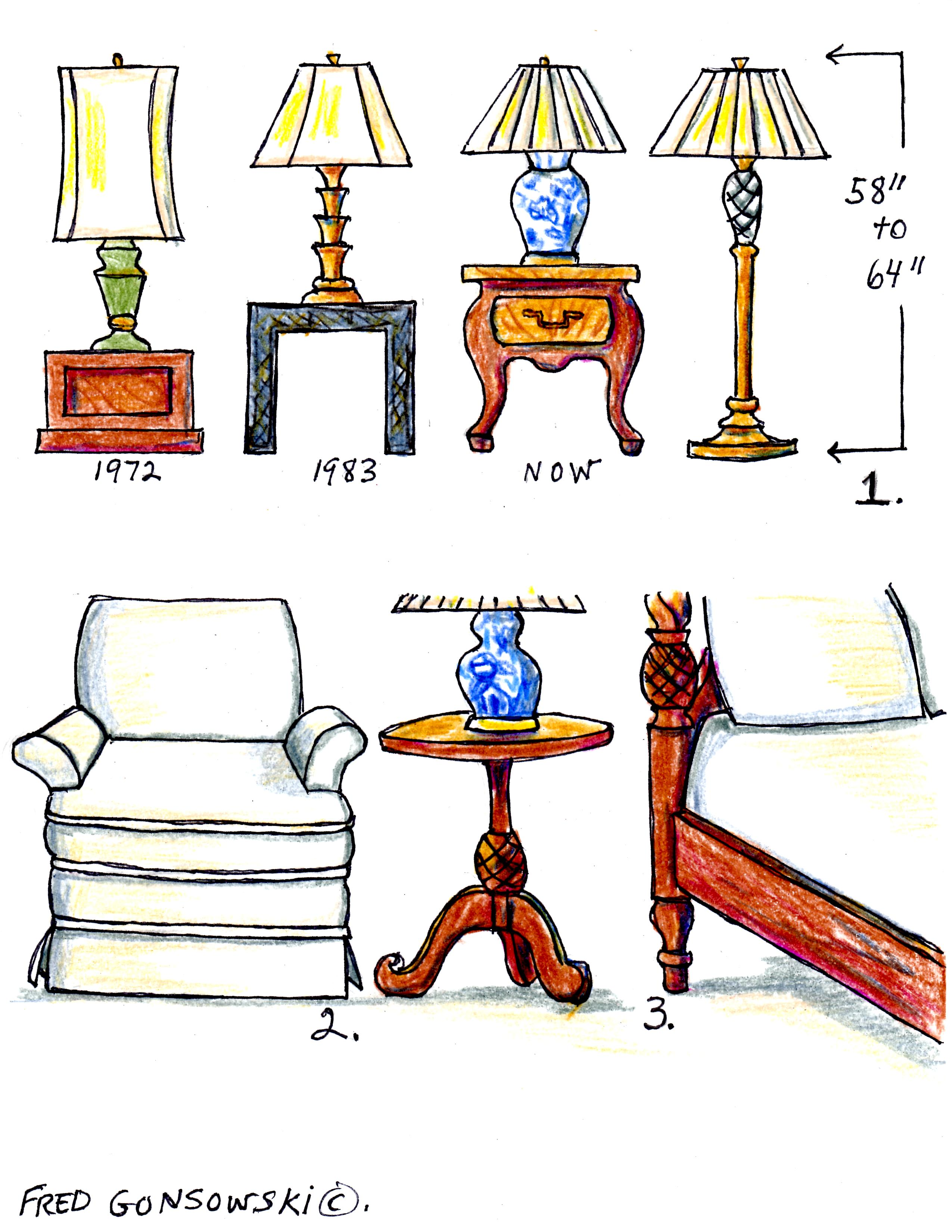 The Right height of a Table Lamp for your End Table..