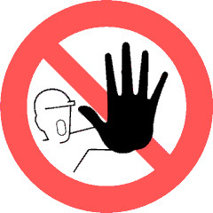 Clipart Sign Saying No.