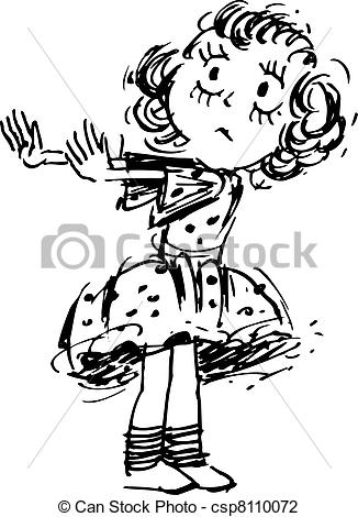Girl Saying No Clipart.