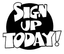 Sign Up Today Clipart.