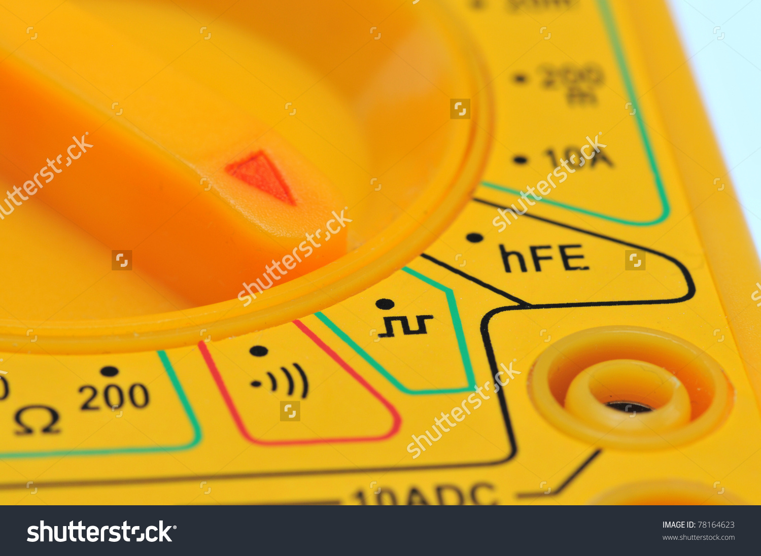Dial Knob On Multimeter Pointing Symbol Stock Photo 78164623.