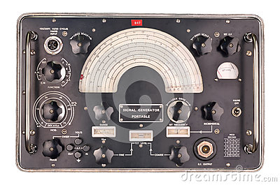 Old Signal Generator Stock Image.