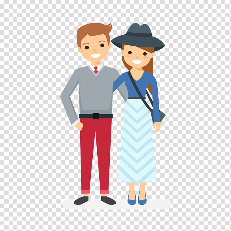 Significant other , Couple transparent background PNG.