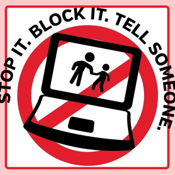 Stop Cyber Bullying Signs / Symbols / Icons Clip Art Set for Commercial Use.