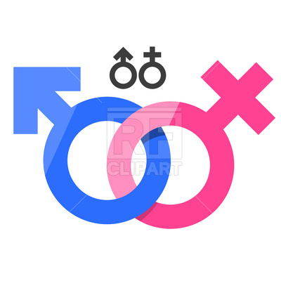 Male and female gender signs Stock Vector Image.