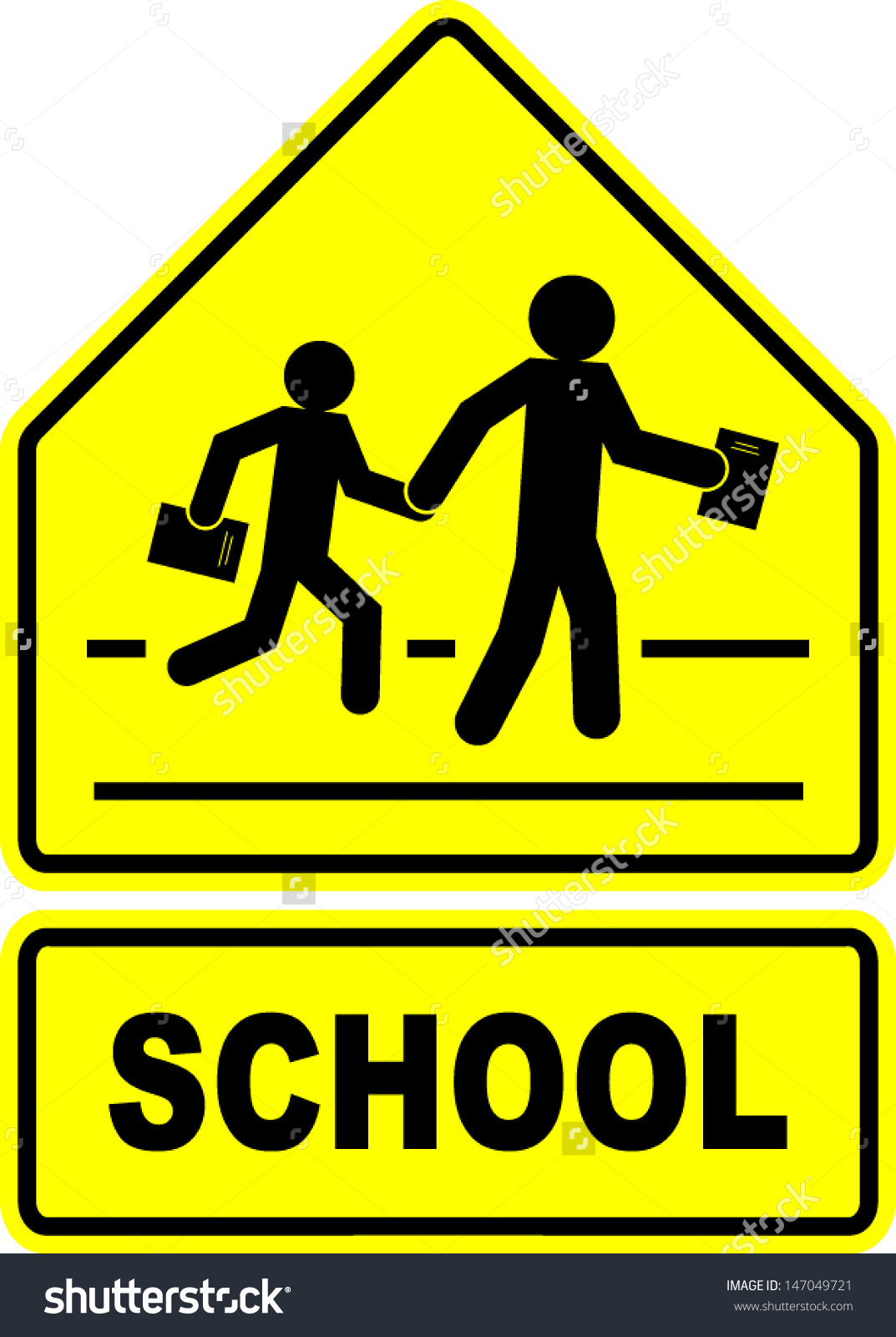 Clipart Signs Student Crossing.