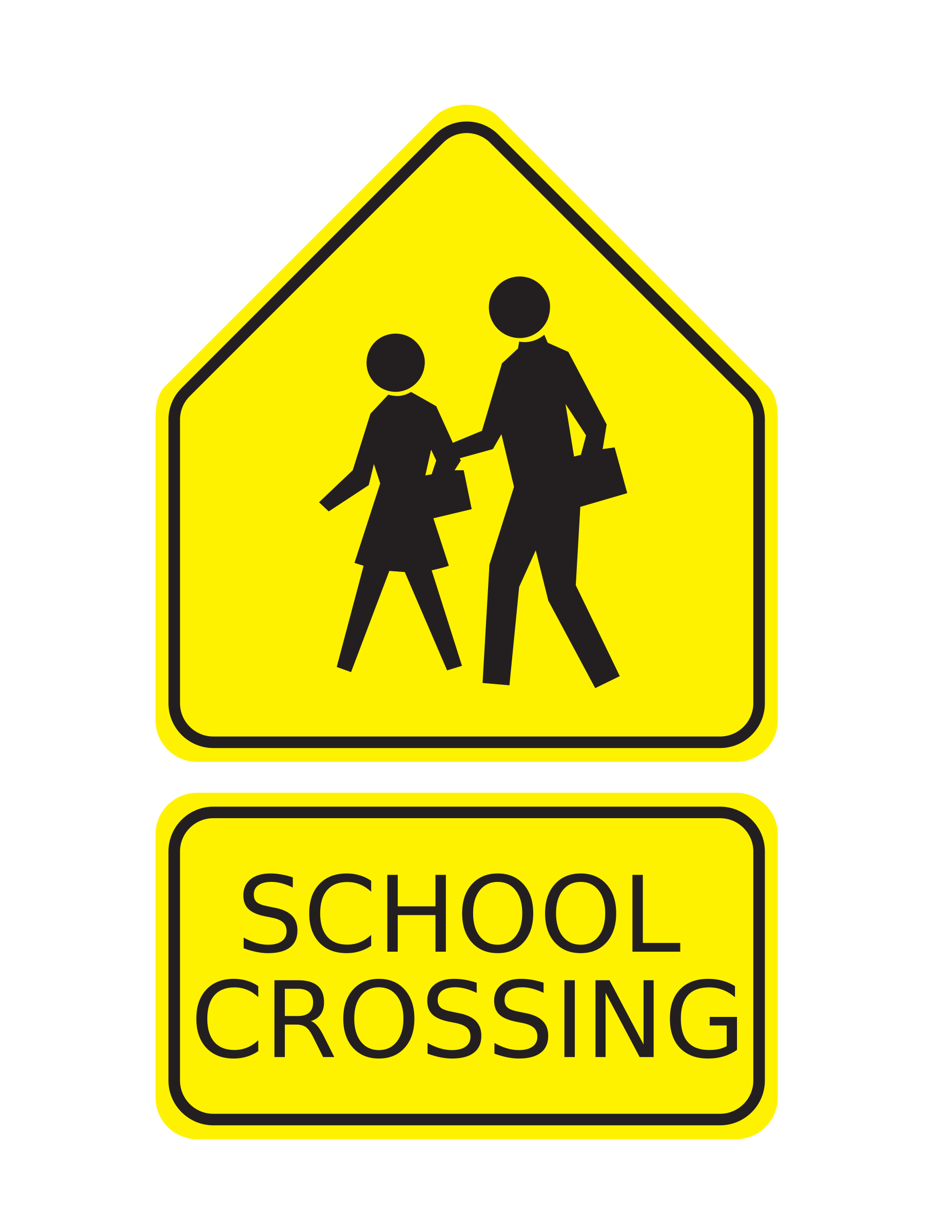 School Sign Clipart.