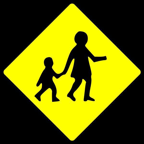School Crossing Sign Clipart.