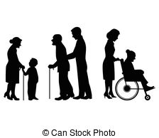 Clipart Vector of elderly silhouettes set csp4848635.