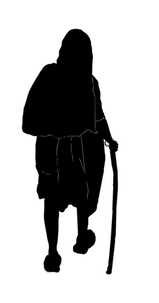 Clipart Silhouette Elderly Clipground