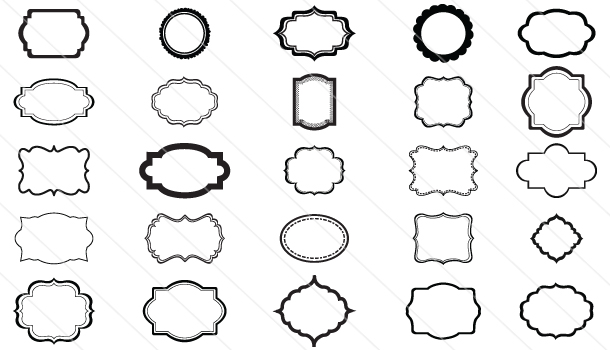 Silhouette #Frames #Vector (25 different frames).