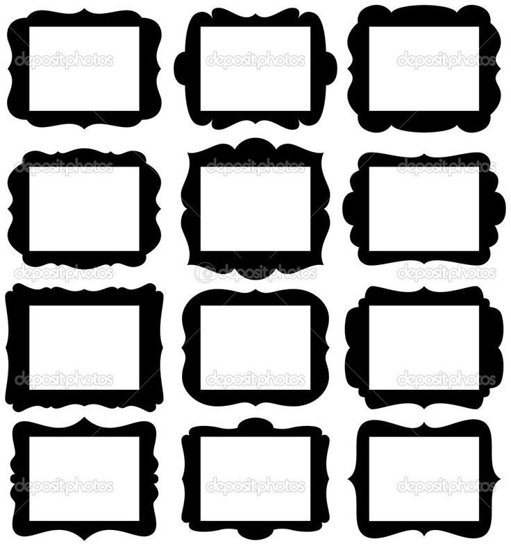 Vector Set of Frame Silhouettes in with 8.5.