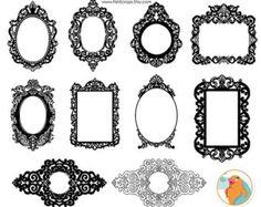 Baroque Frames Clipart Clip Art, Vintage Frames Borders Clipart.