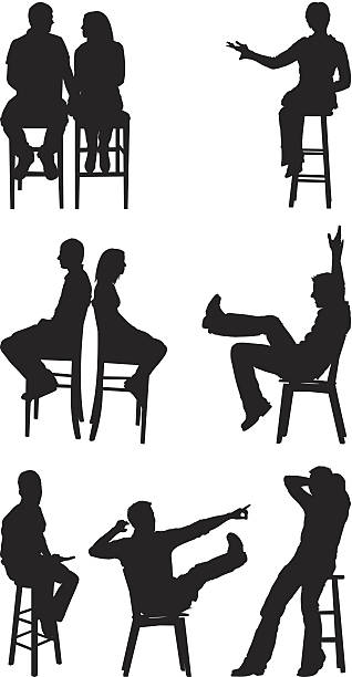 Clipart Silhouette Friends Sitting From Back 20 Free