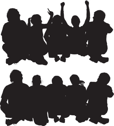 Gallery For > People Sitting Silhouette Clipart.