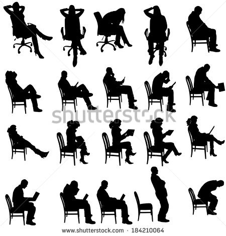 People Sitting Stock Images, Royalty.
