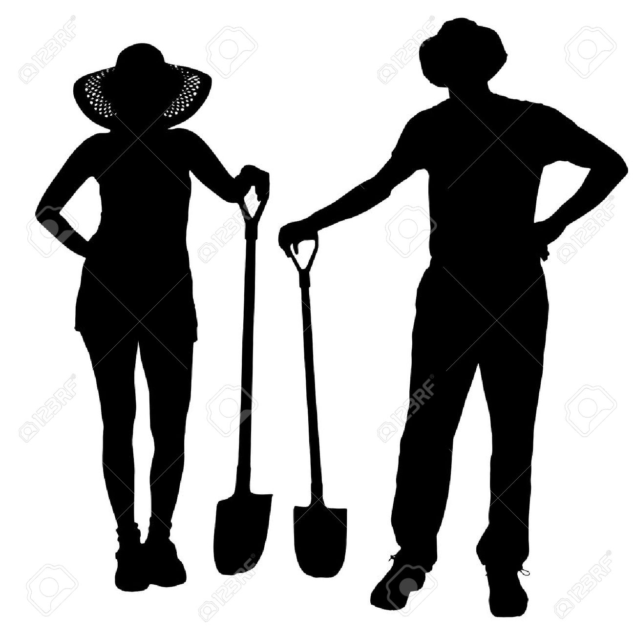 266 Couple Gardening Stock Vector Illustration And Royalty Free.