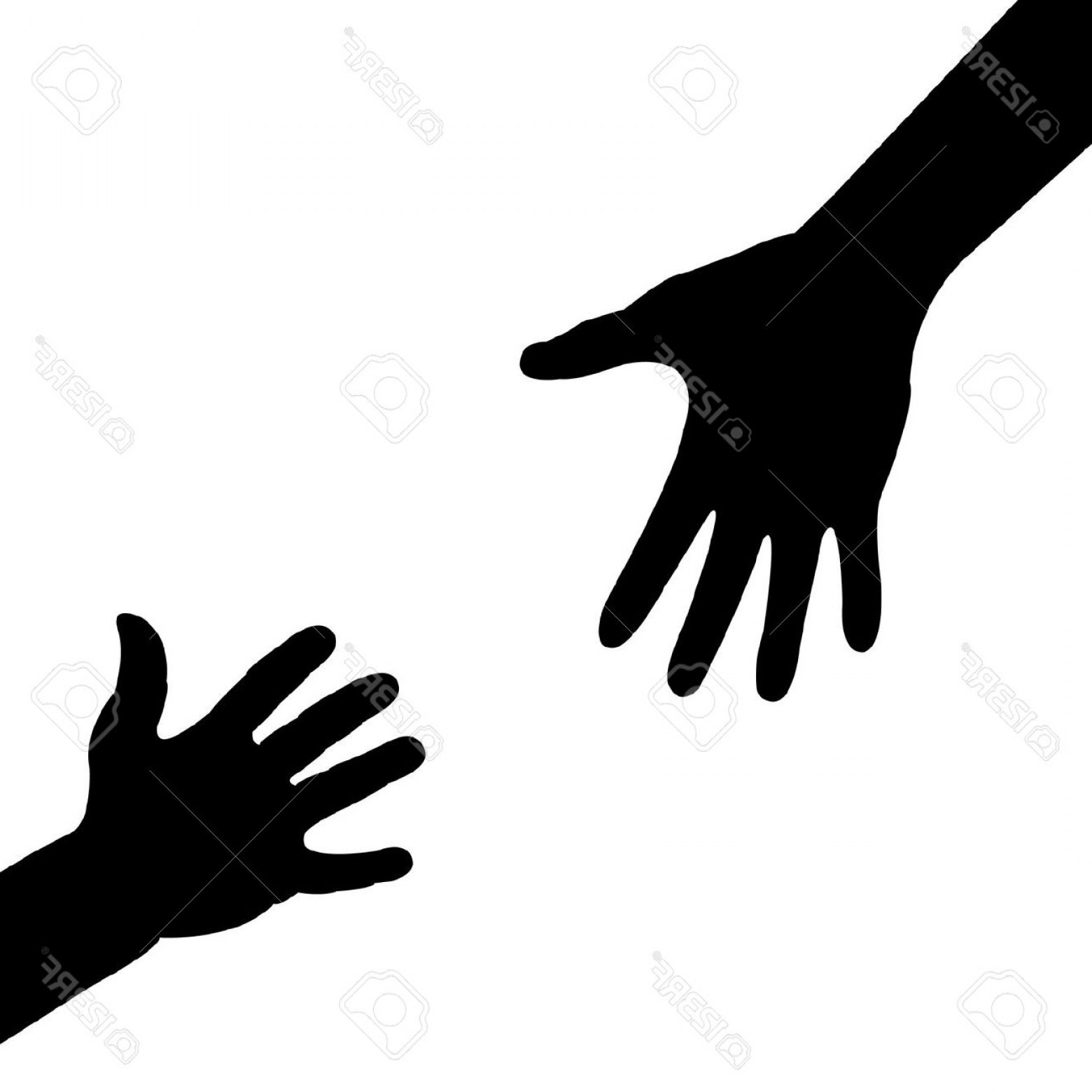 Excellent Time Out Hand Silhouette Vector Design.