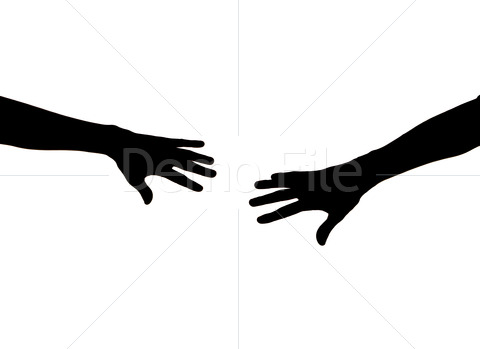 Silhouette Hands.