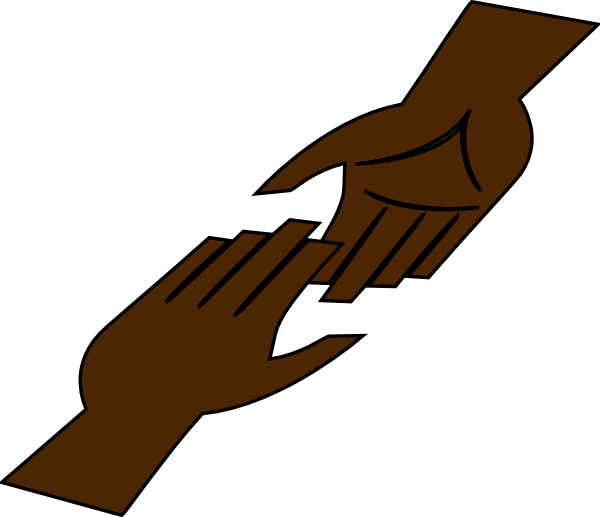 Silhouette Helping Hands Clipart.