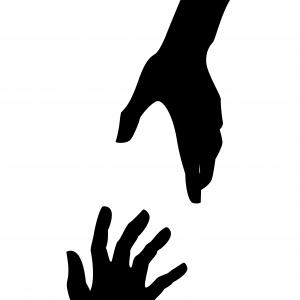 Hd Helping Hands Clipart Black And White Picture.