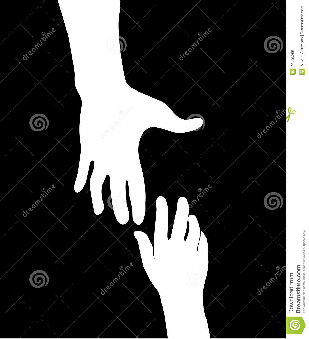 Helping Hand Royalty Free Stock Photo.