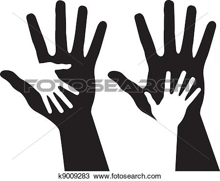 Clipart of Helping hands k9009283.