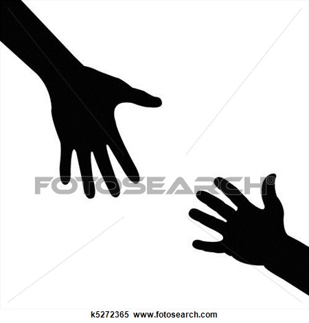 silhouette hand , helping hand View Large Clip Art Graphic.
