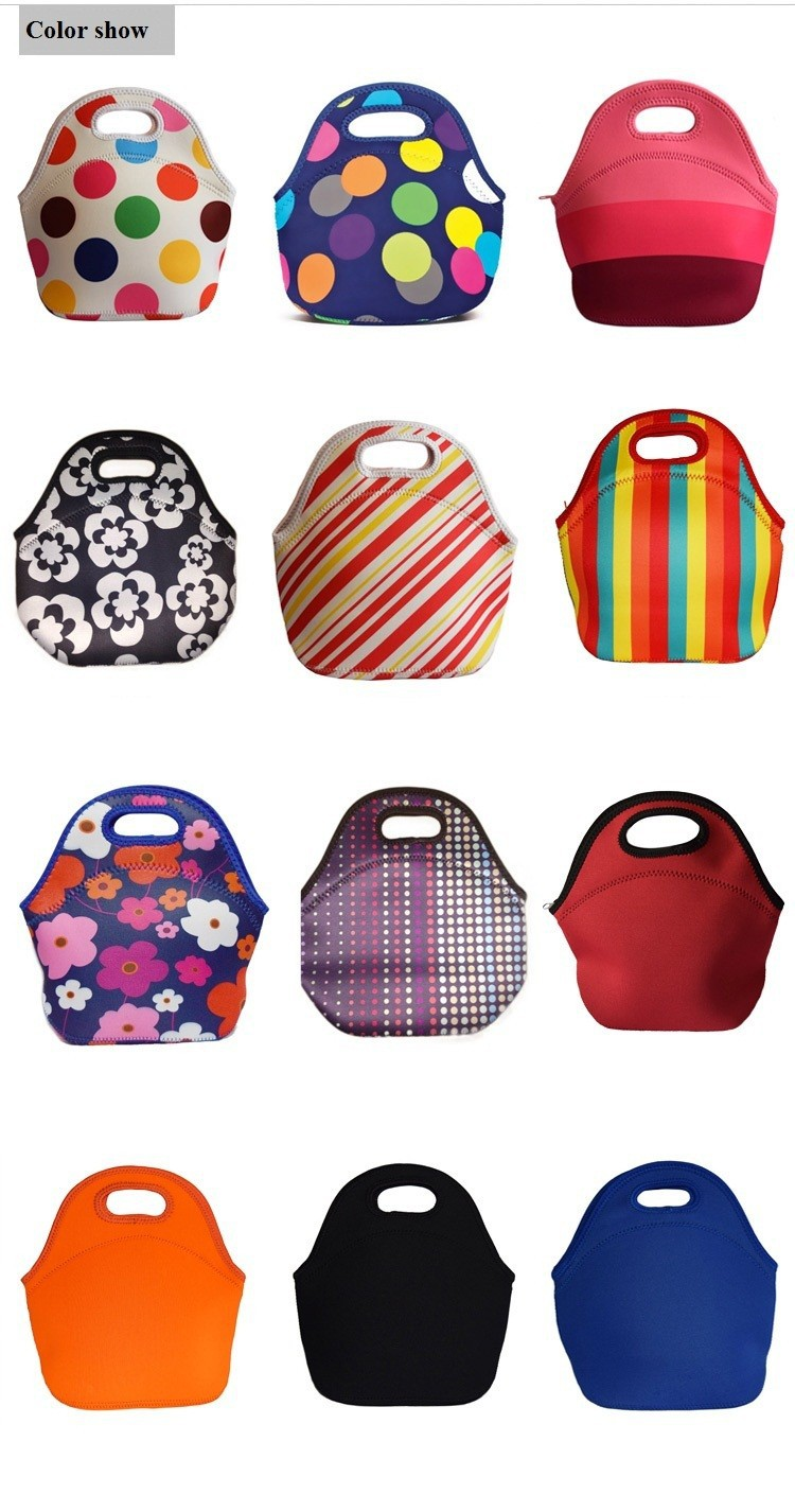 Lancheira Thermo Thermal Insulated Neoprene Lunch Bag for Women.