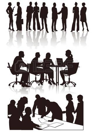 Clipart Silhouette Meeting Clipground