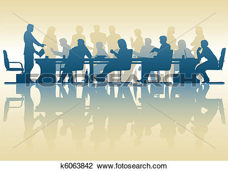 Clipart of Business meeting k6063842.