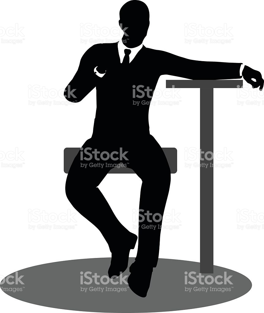 Business People Meeting Sitting Silhouette stock vector art.
