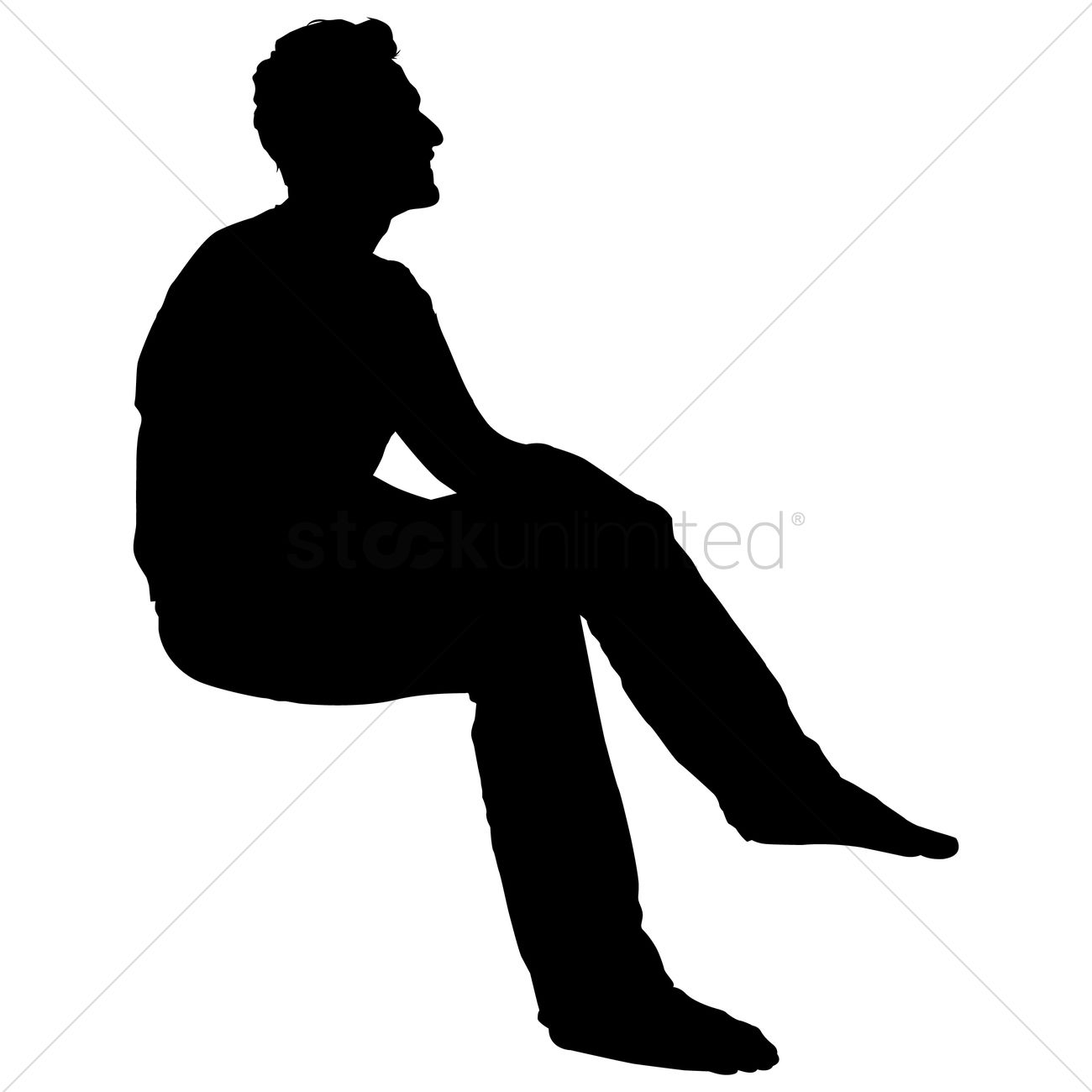 Clipart Silhouette Of A Person Sitting Clipground