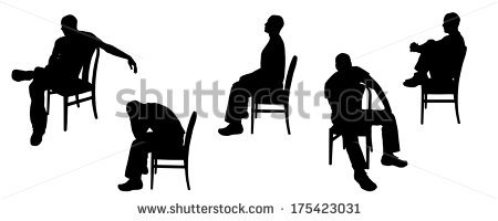Person Sitting In Chair Stock Images, Royalty.