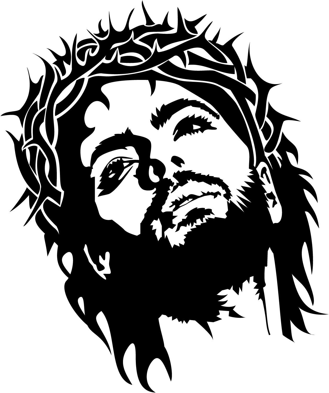 Jesus Face Silhouette.