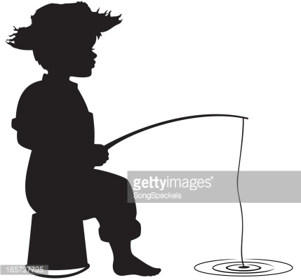 Gallery For > Girl Fishing Silhouette Clipart.