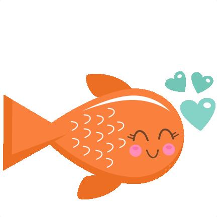 Valentine Fish SVG scrapbook cut file cute clipart files for.