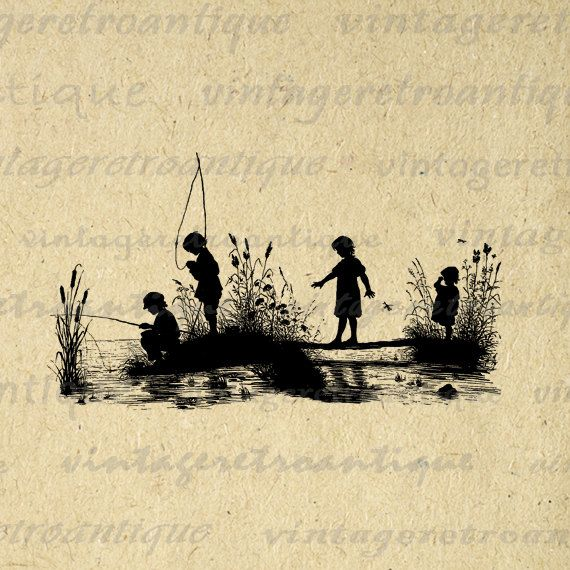 17 Best images about 1s Fish Fishing Silhouettes on Pinterest.