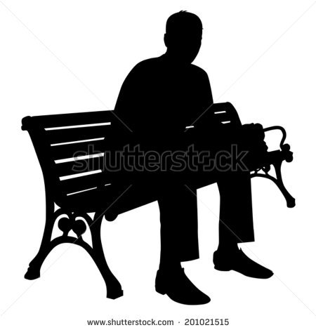 Park Bench Silhouette Stock Images, Royalty.