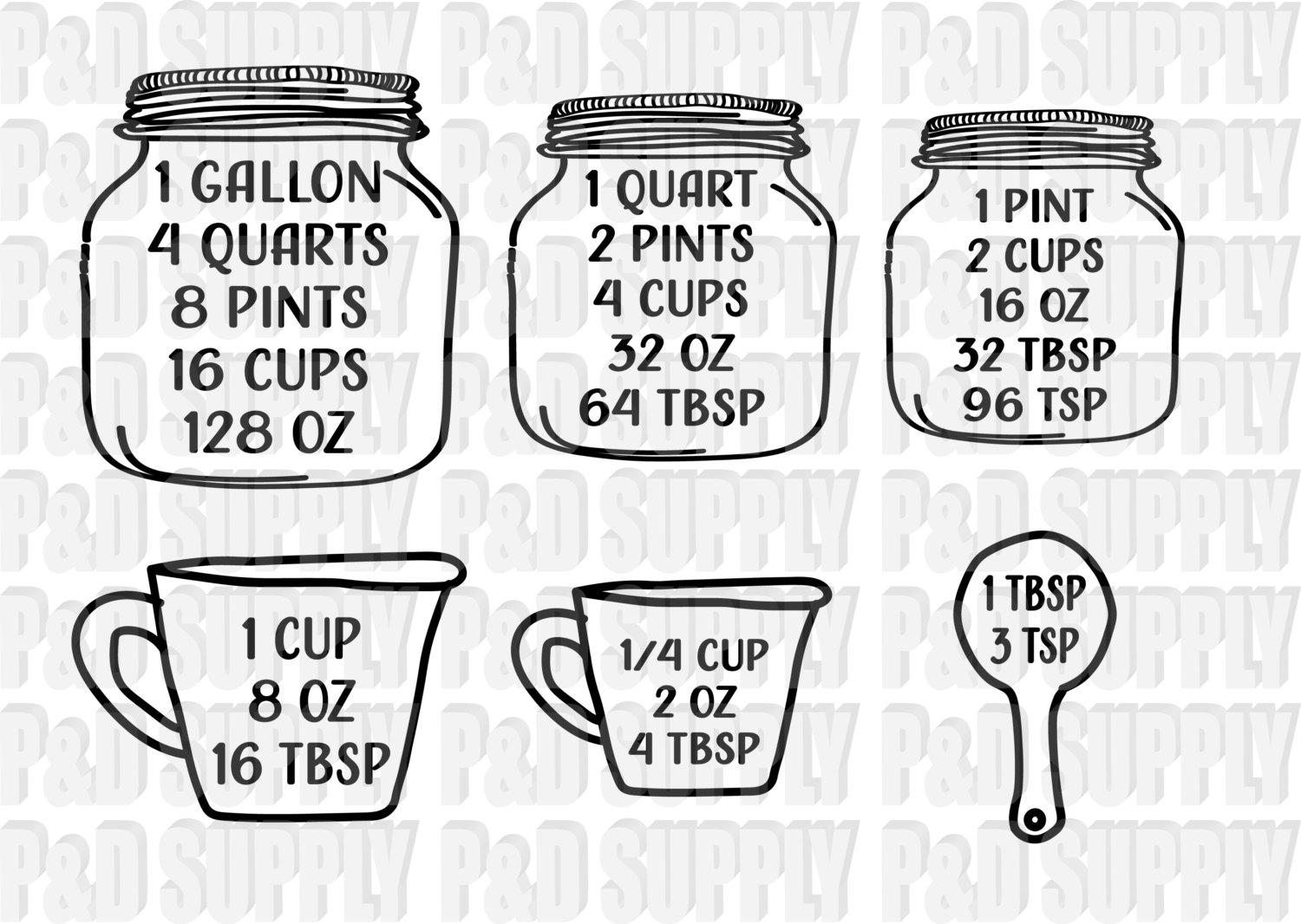Mason Jar Kitchen Set