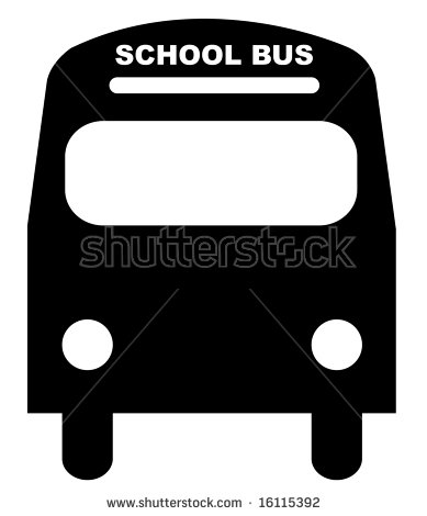 School Bus Silhouette Stock Images, Royalty.