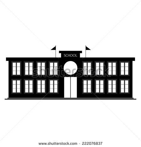 School Building Silhouette Stock Photos, Royalty.