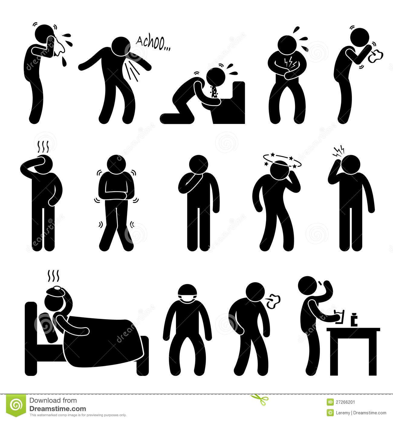 Sickness Illness Disease Symptom Stock Image.