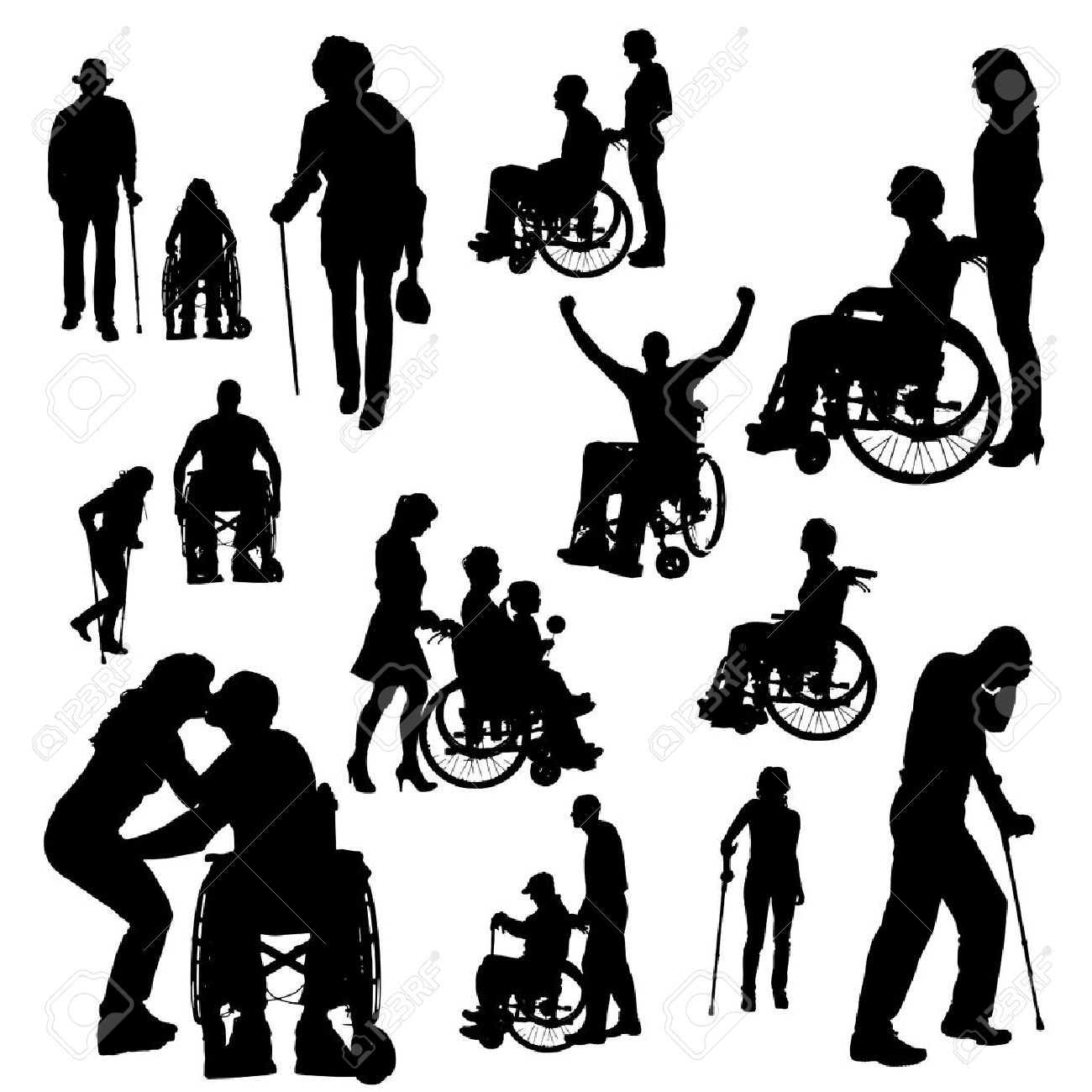1,372 Handicapped Adults Stock Vector Illustration And Royalty.